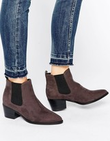 Head Over Heels By Dune Perina Gray Heeled Chelsea Boots