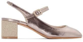 La Redoute Collections Sling-Back Copper-Coloured Ballet Pumps