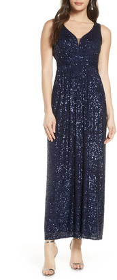 Morgan & Co. Sequin A-Line Gown