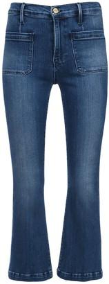 Frame Le Bardot Cropped Flared Denim Jeans