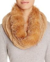 Surell Infinity Loop Scarf with Fox Fur Trim
