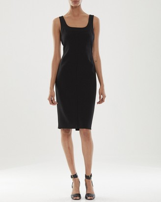 Halston Cora Fitted Midi Dress