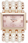charter club womens rose goldtone imitation pearl stretch bracelet watch 40mm only at macys