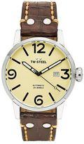 TW Steel Men's Maverick Leather Automatic Watch