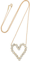 Jennifer Meyer Open Heart 18-karat Gold Diamond Necklace