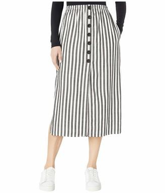 Cupcakes And Cashmere Women's Sandrine High Waist Yarn Dyed Striped Midi Skirt