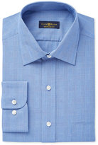 Club Room Estate Men's Classic-Fit Wrinkle-Resistant Blue Glen Plaid Dress Shirt, Only at Macy's