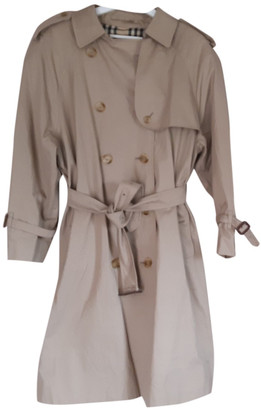 Burberry Beige Cotton Trench coats