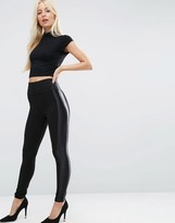 Asos Luxe Side Stripe Skinny Pants