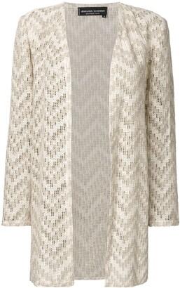 Jean Louis Scherrer Pre-Owned Open Knit Cardigan