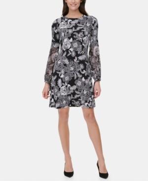 Tommy Hilfiger Floral-Print A-Line Dress, Regular & Petite Sizes