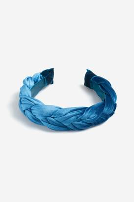 Topshop Freedom At Plaited Velvet Headband