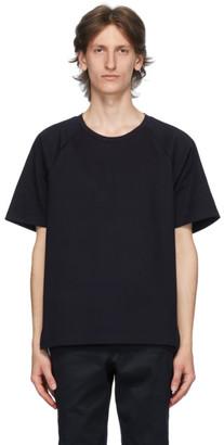 Thom Browne Navy Interlocking Stripe T-Shirt