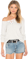 Velvet by Graham & Spencer Billow Lace Up Sweatshirt