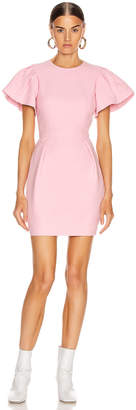 Alexander McQueen Short Sleeve Mini Dress in Sugar Pink | FWRD