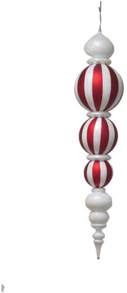 "Queens of Christmas 54"" Oversized Red And White Finial Ornament"