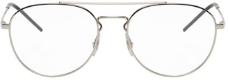 Ray-Ban Silver Round Top Bar Glasses