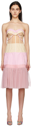 Moschino Pink & Beige Tulle Ottoman Deconstructed Couture Dress