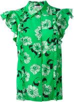 P.A.R.O.S.H. floral print shirt - women - Silk/Spandex/Elastane - XS