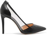 Eight PVC-paneled leather pumps
