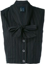 Romeo Gigli Pre Owned 1990's cropped waistcoat