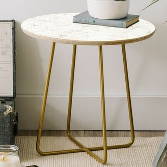 East Urban Home Holli Zollinger Sunburst Light Round End Table East Urban Home