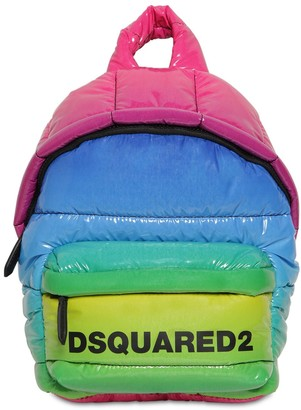 DSQUARED2 Miss Logo Rainbow Vinyl Backpack