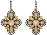 Freida Rothman 14K Gold Plated Sterling Silver CZ Embellished Clover Drop Earrings