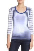 Three Dots Mixed Stripe Top