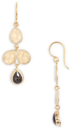 Anna Beck Hammered Stone Chandelier Earrings