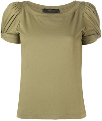 FEDERICA TOSI knot-detail cotton T-shirt