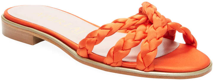 Aperlaï Women's Braided Slide Sandal