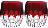 Waterford Mixology Cut Lead Crystal Tumblers, Set of 2, Red