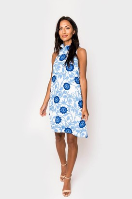 Gibson Cavallo Ruffle Neck Date Dress
