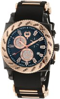 Brillier Men's 01.1.3.1.11.7 Chronograph Method Air IP Rose-Tone Rubber Watch