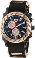 Brillier Men's 01.1.3.1.11.7 Chronograph Method Air IP Rose-Tone Rubber Watch