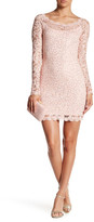 Sequin Hearts Sequin Lace Fitted Mini Dress (Juniors)
