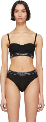 Dolce & Gabbana Black Jersey Balconnet Bra