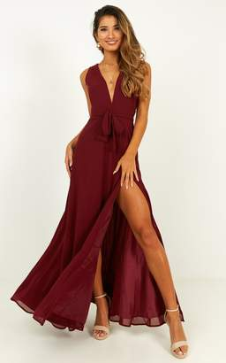 Showpo Wide Eyed Girl Maxi Dress in wine - 18 (XXXL) Dresses