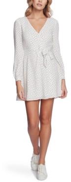 1 STATE Dot-Print Tie-Waist Dress