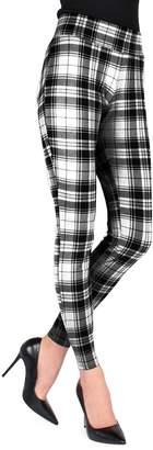 Me Moi Memoi Stripe Plaid Shaper Leggings