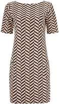 Zig Zag Jacquard Tunic Dress