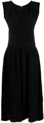 Jil Sander Sleeveless Zipped Midi Dress
