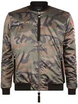 Blood Brother Loyal Camo Print Bomber Jacket