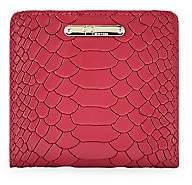 GiGi New York Women's Mini Foldover Python-Embossed Leather Wallet