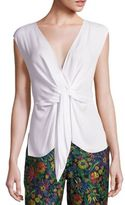3.1 Phillip Lim Silk Sleeveless Tie-Front Blouse