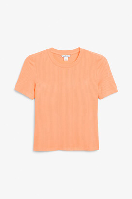 Monki Ribbed stretchy tee