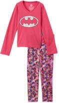 Intimo Batgirl Pink Long-Sleeve Tee & Pants - Girls