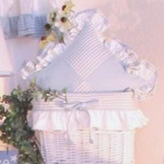 Brandee Danielle Prince Blue Patch Decorator Cotton Throw Pillow