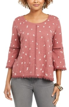 Style&Co. Style & Co Petite Cotton Lantern-Sleeve Top, Created for Macy's